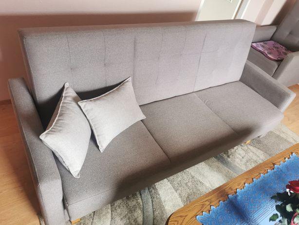 Zestaw wypoczynkowy, 2x wersalka plus masywny fotel