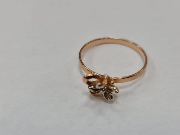 Retro! Klasyczny złoty pierścionek damski/ 585/ 2 gram/ R20/ Radziecki