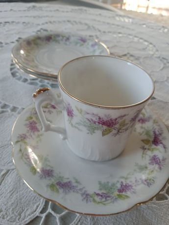 Filiżanka, Duo, porcelana Limoges,prowansalski