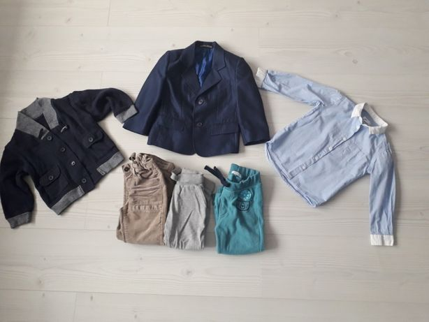 Zestaw marynarka koszula, sweter, spodnie gratis next, kappahi r.92