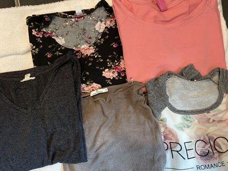 5 damskich koszulek/bkuzek z dlugim rekawem