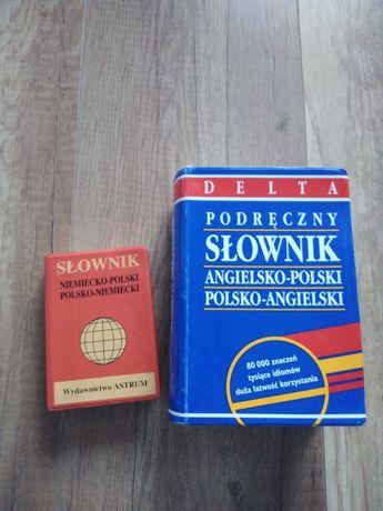 Słowniki językowe, język angielski, język niemiecki