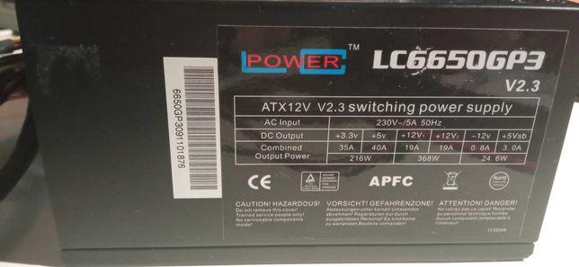 Fonte LC Power ATX 650W 80 Plus Silver