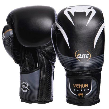 Перчатки боксерские кожаные на липучке VENUM NEW ELITE