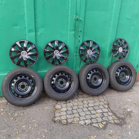 kola zimowe mazda 205/55r16 5x112,4 komplet + kolpaki