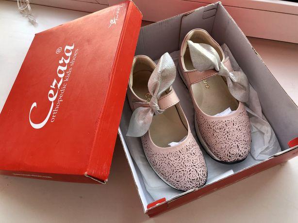 cezara туфли для девочки ортопедические кожаные на липучках