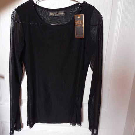 Блузка чорна,  жіноча,  прозора