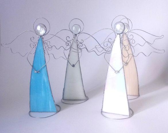 Anioł dla dziecka prezent komunia chrzest witraż rękodzieło