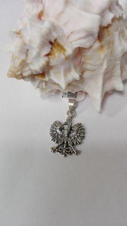 Srebrny wisiorek - orzeł z koroną, próba 925