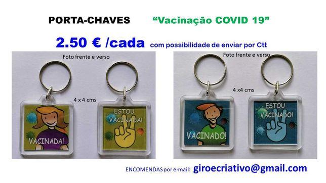 Porta-chaves VACINADA/O e outros