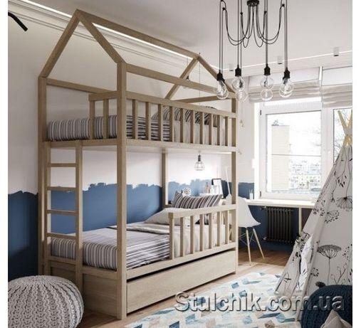 Домик кровать для двоих детей Шато