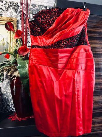 Sukienka czerwona 44