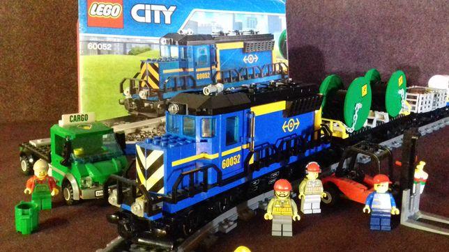Железная  дорога  LEGO TRAIN  «Грузовой поезд» (60052) Оригинал.