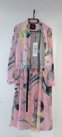 SIMPLE płaszcz nowy letni zwiewny rozmiar 34 S