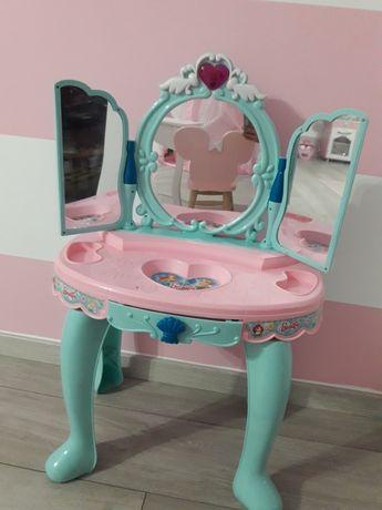Toaletka dla dziewczynki, mietowo-różowa, z lustrem