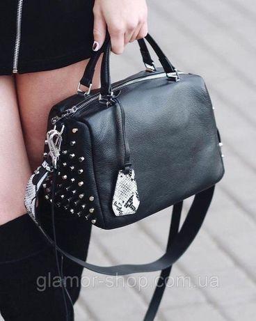 Женская кожаная сумка через на плечо Polina & Eiterou Полина жіноча