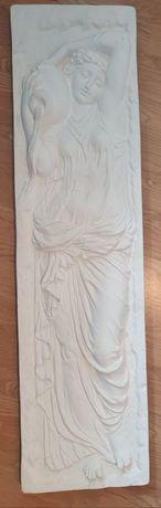 Komplet 2 sztuki sztukateria płaskorzeźba gipsowa