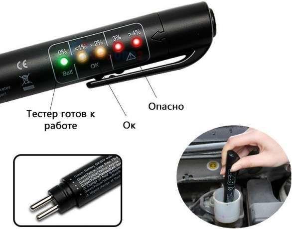 Тестер - индикатор качества тормозной жидкости. НОВЫЙ