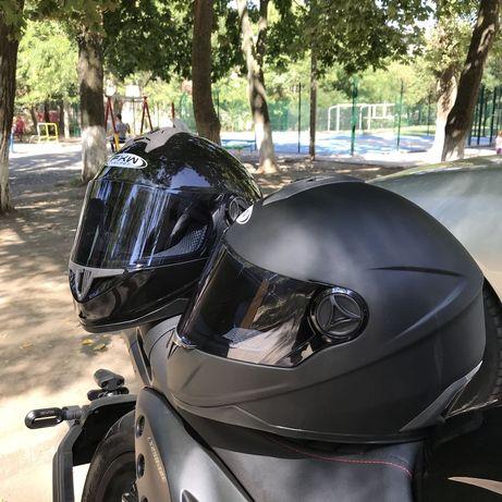 мото шлем интеграл полнопрофильный закрытый тонированные визиры