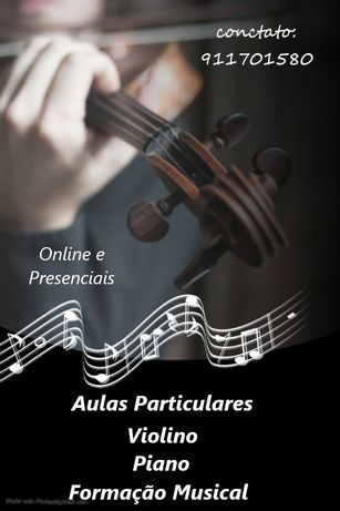 Aulas de violino, piano e formação musical.online ou presenciais