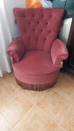 Poltrona senhorinha sofá vintage