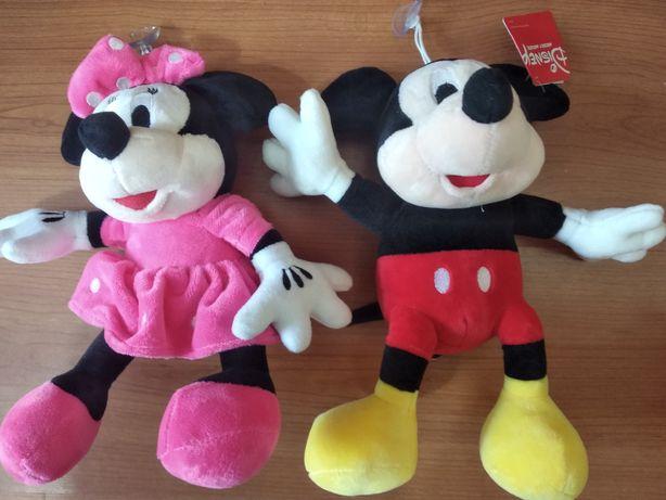 Bonecos Mickey e Minnie peluches novos câmara brincar animais