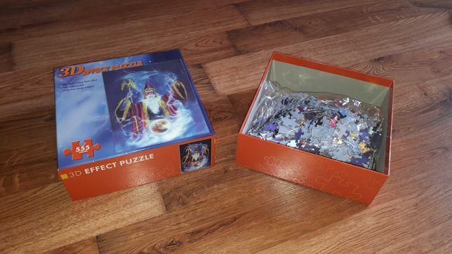 3D Effect Puzzle, czarodziej, 555 elementów