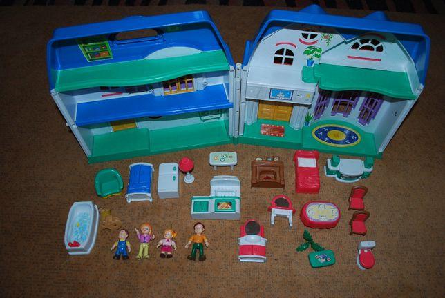 Dom duży domek rodzinny pies zabawkadla dla dzieci
