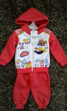 Новый костюмчик на девочку 1-1,5 годика (Турция)