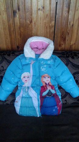 Zimowa, bardzo ciepła kurtka dla dziewczynki.
