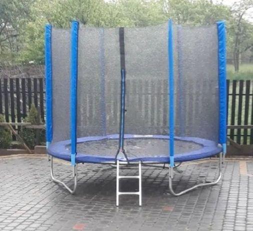 Удобный батут 140 см Fun Fit  (Фан Фіт) с сеткой и лестницей