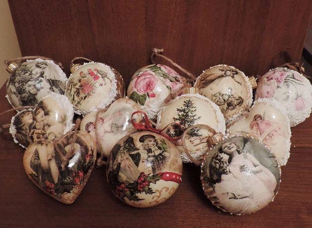 Bombki świąteczne decoupage