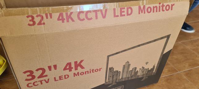 """Monitor LED HD 32"""" 4K CCTV metalowy do użytku ciągłego 32 CALE 4K"""
