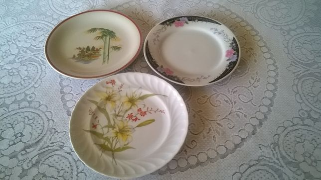 Conjunto de 3 pratos decorativos