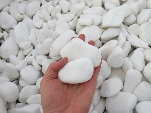 Otoczak Grecki Biały THASOS, kamień ozdobny, ogrodowy, dekoracyjny