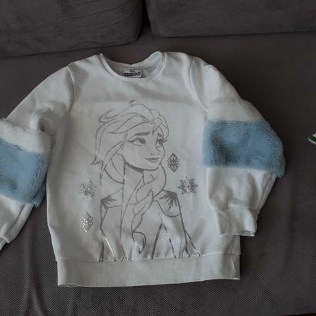 Bluza dziewczęca Kraina Lodu ,rozmiar 128, stan idealny.