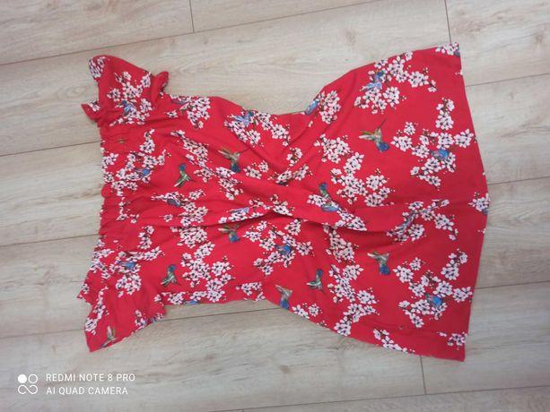 Letnia, czerwona sukienka, hiszpanka