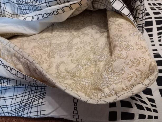Одеяло овечья шерсть 2 на 2.10 с пододеяльником новое