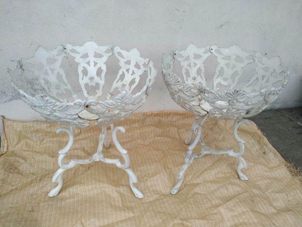 Floreiras em alumínio fundido