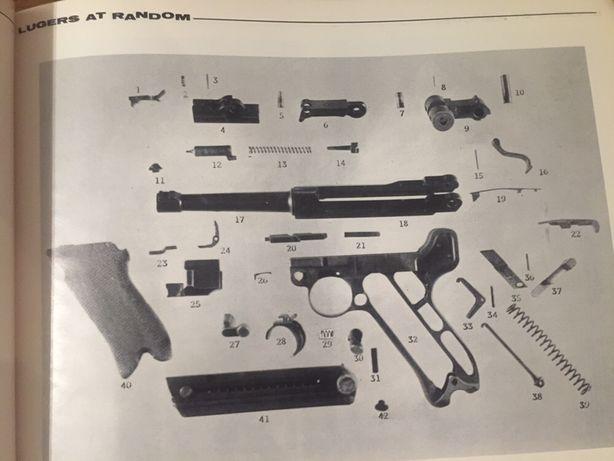 Livro Armas Lugers at random - 1a edição 1969