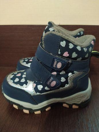 Зимние ботинки 22 размер девочка