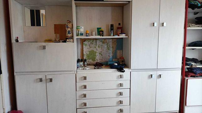 Armário grande roupeiro estante gavetas guarda roupa guardafatos