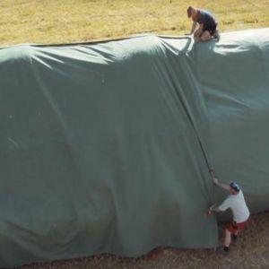 Fliz na 200 BALOTÓW plandeka 10,4x25m włóknina ochrona przed deszczem