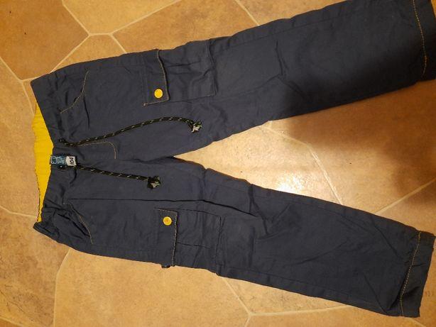 ciepłe spodnie, rozm 104, granatowe z kieszeniami