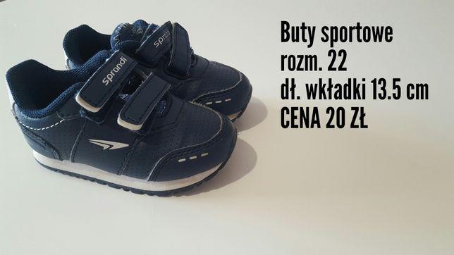 Buty sportowe chłopięce rozm. 22