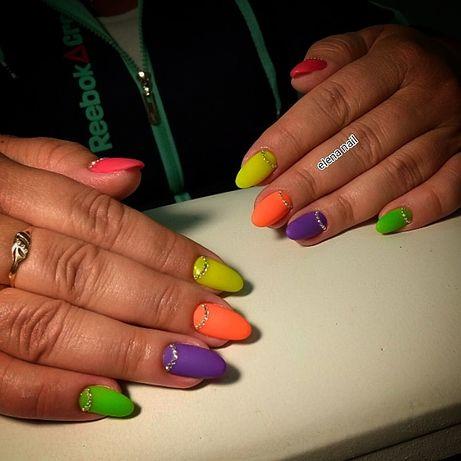 Наращивание ногтей,маникюр,педикюр,покрытие ногтей гель-лаком