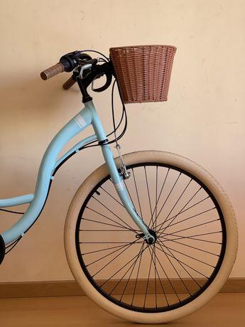 Bicileta retrô alumínio -azul