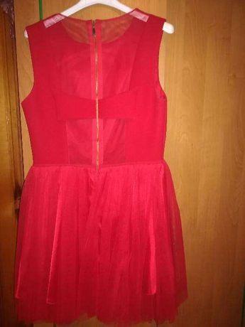 sukienka czerwona showroom