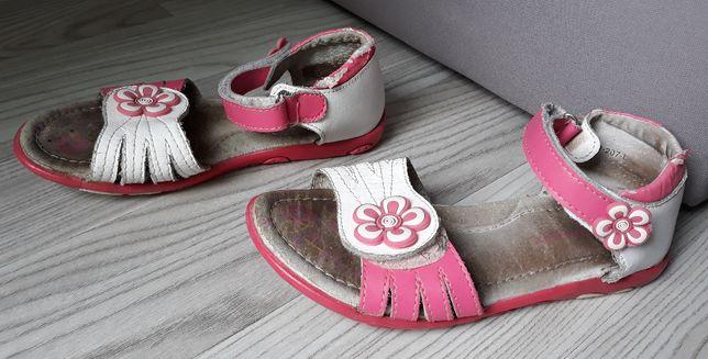 Sandały sandałki buty lato letnie białe różowe 19,5cm 31