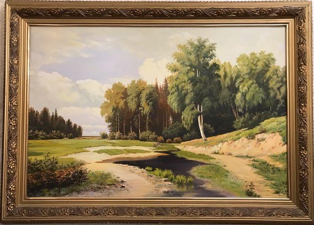 Продаём картину «Пейзаж», 2002 г., холст, масло! Размер 70*105 см